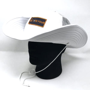 White C4 RnR Snapback Bucket Hat - Care Four
