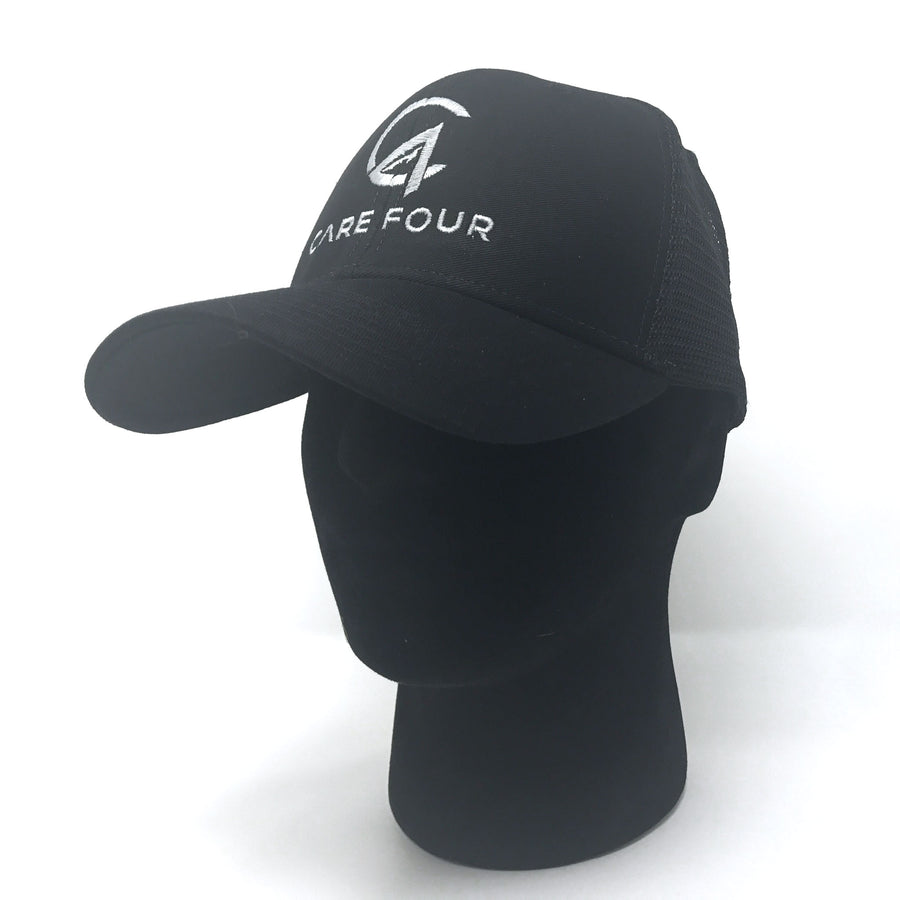 Black C4 Classic Trucker Hat - Care Four