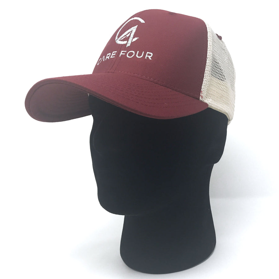 Maroon C4 Classic Trucker Hat - Care Four