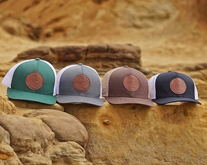 Pink C4 Copacetic Leather Patch Mesh Snapback - Care Four