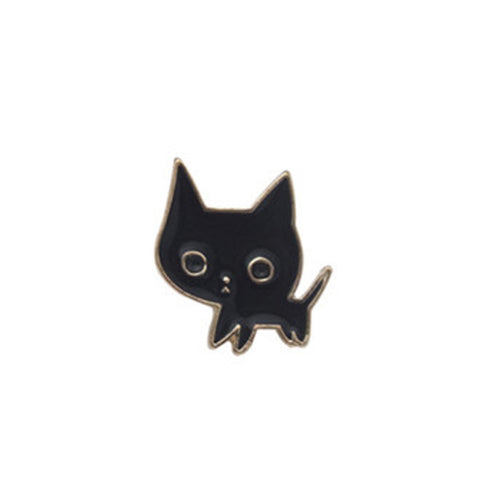 1Pc Black Cat & Wine Pins