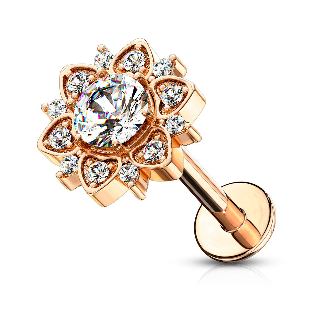 Crystal Flower Flat Back Stud