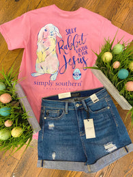 Silly Rabbit Easter Is For Jesus Tee