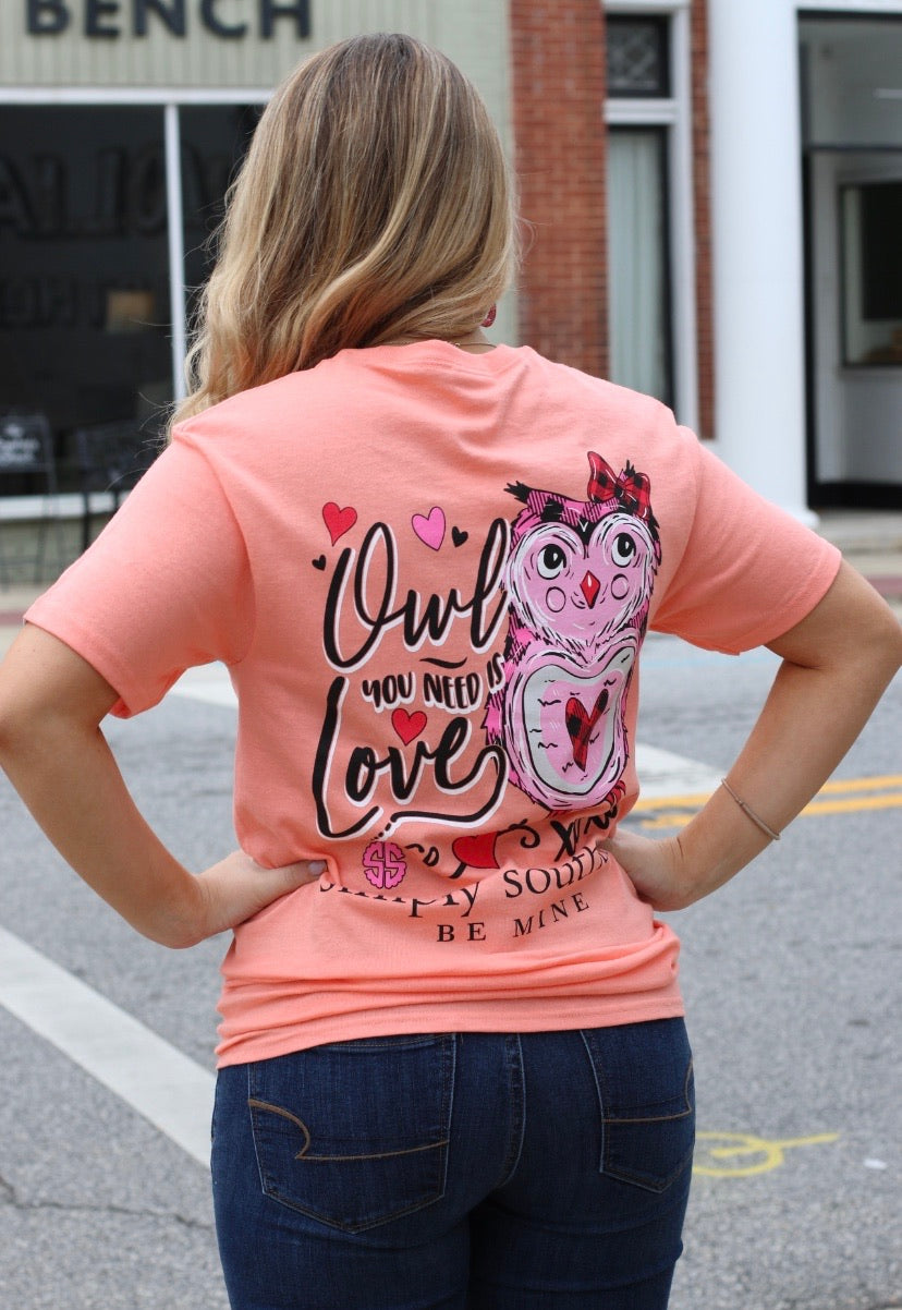 SS owl you need is love T-shirt