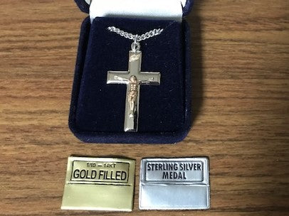 Polished Crucifix - Gold Filled and Sterling Silver