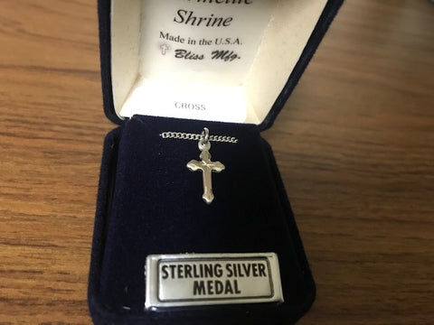Cross - Sterling Silver - Engraved