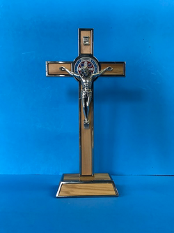 St. Benedict Crucifix - 8 inch with color medallion