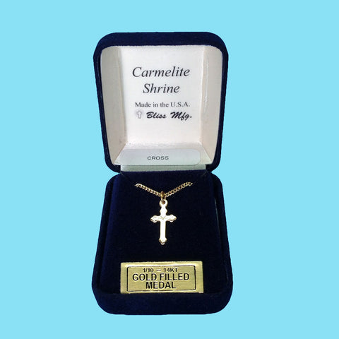 Infant Cross - Diamond Cut Engraved - 14KT Gold Filled