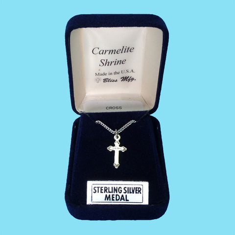 Infant Cross - Diamond Cut Engraved  - Sterling Silver