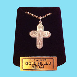 5 Way Confirmation Cross-  14KT Gold Filled