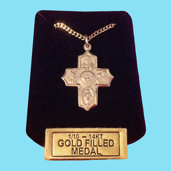 5 Way Confirmation Cross - 14 KT Gold Filled
