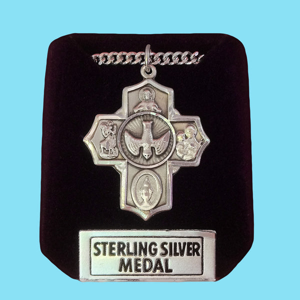 5 Way Confirmation Cross - Sterling Silver