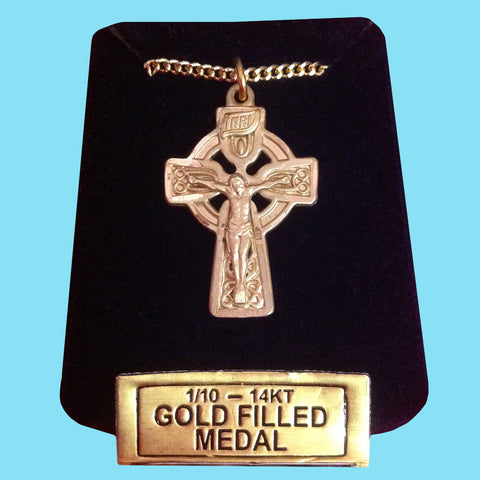 Celtic Crucifix -14 KT Gold Filled