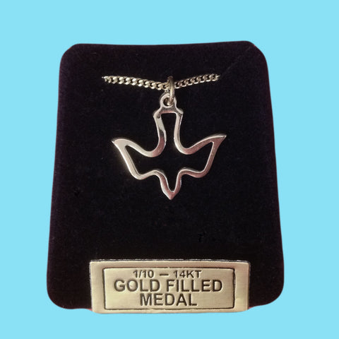 Holy Spirit Open Dove -14KT Gold Filled
