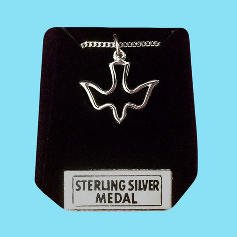 Holy Spirit Open Dove -Sterling Silver