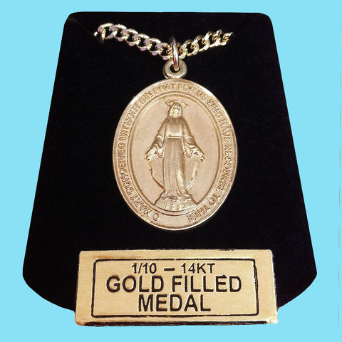 Miraculous Medal - 14KT Gold Filled