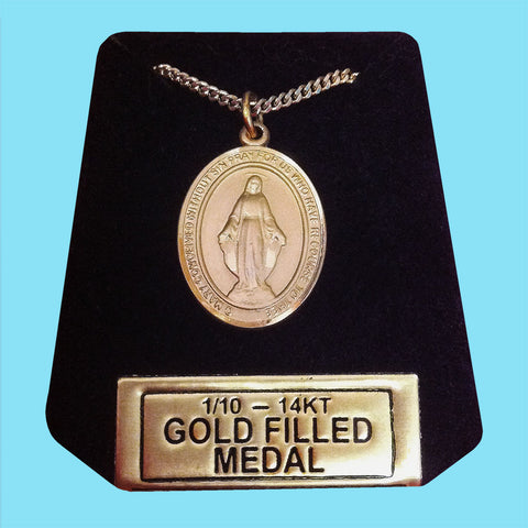 Miraculous Medal -14KT Gold Filled