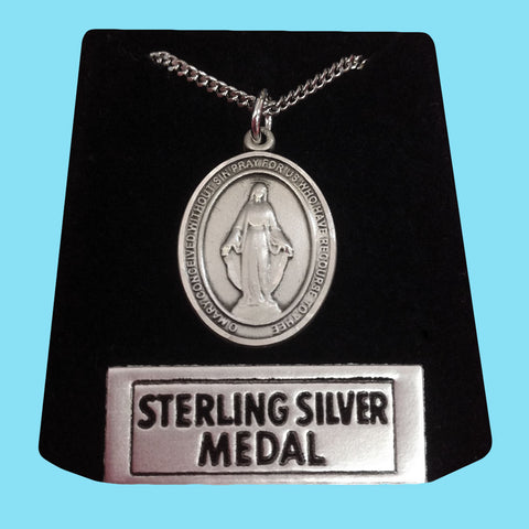 Miraculous Medal -Sterling Silver