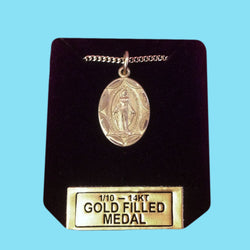 Miraculous Medal - Diamond Cut - 14KT Gold Filled