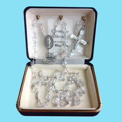 Rosary - Silver Plated with Crystal Beads