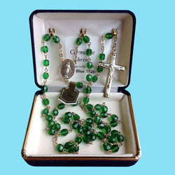 Rosary - Gold Plated with Emerald Beads