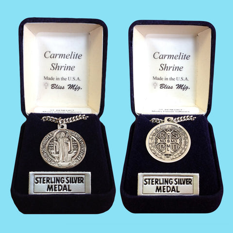 Saint Benedict Medal - Sterling Silver