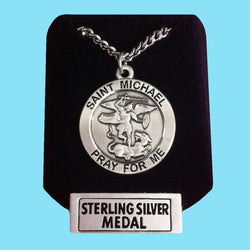 Saint Michael Medal - Sterling Silver