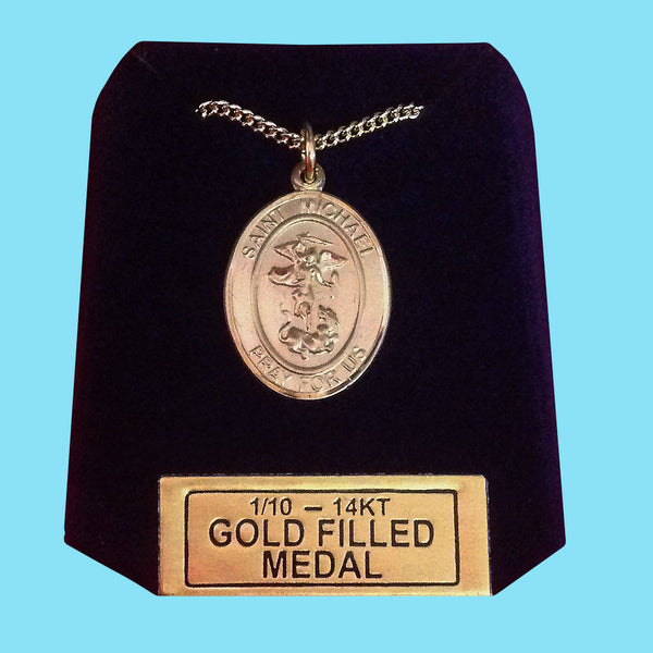Saint Michael Medal -14KT Gold Filled