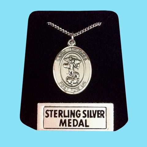 Saint Michael Medal -Sterling Silver