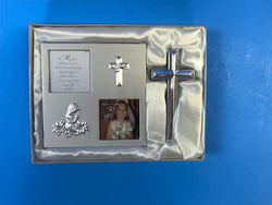 Communion Picture Frame and Cross - Girl