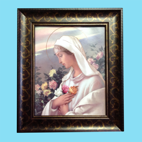 Mary Mystical Rose - Framed