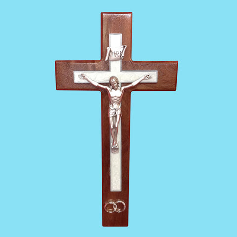 Walnut Wedding Crucifix