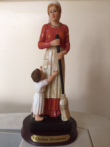 Kitchen Madonna Statue  9""