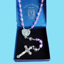 Rosary - Lavender with Our Father Beads