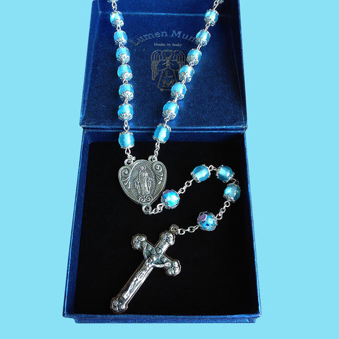 Rosary - Pale Blue with Our Father Beads