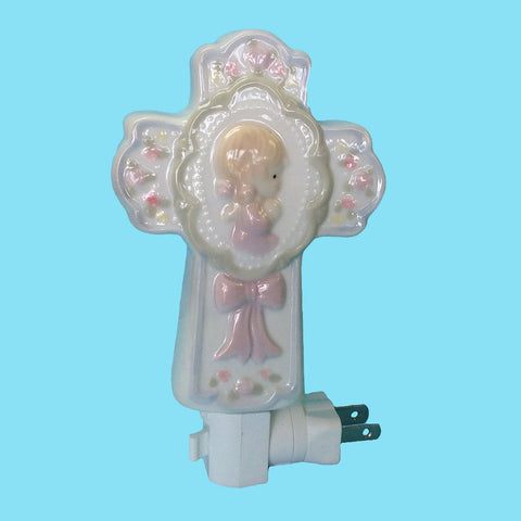 Porcelain Child's Night Light - Girl