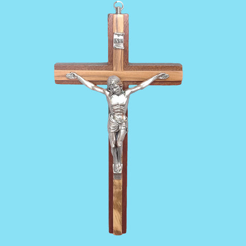 Olivewood Inlay Crucifix