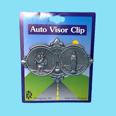 Auto Visor Clip - Saint Christopher/Our Lady Of The Highway