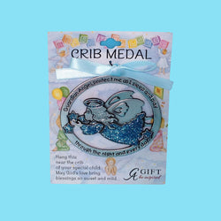 Pewter Crib Medal - Blue