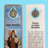 Saint Benedict Bookmark with Medal