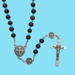 Rosary with Saint Benedict Our Father Beads