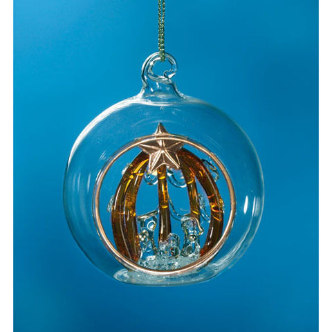 Spun Glass Nativity Bell