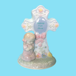 Porcelain Standing Child's Night Light - Girl
