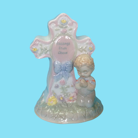 Porcelain Standing Child's Night Light - Boy