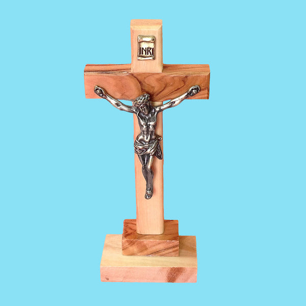 Olivewood Standing Crucifix