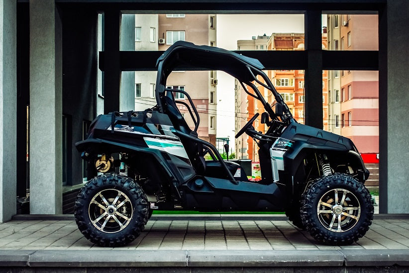 double sport quadrocycle, 4x4 wheels