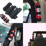 XYZCTEME Fire Extinguisher Holder, ATV/UTV Interior Roll Bar Trim Kit (Black).