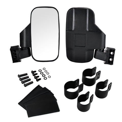"UTV Side Rear View Mirror with 1.75"" and 2"" Roll Bar Cage"