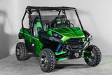 "Kawasaki Teryx 2 Seater (2014 Only) 17 1/2"" Tall Half Windshield TALLEST ON THE MARKET"