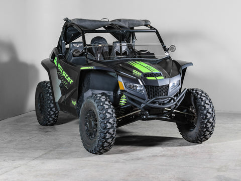 "Arctic Cat Wildcat XX Half UTV Windshield 1/4"" Scratch Resistant"